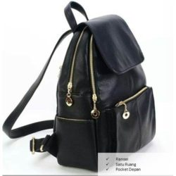 B021 IDR.155.000 MATERIAL PU SIZE L32XH40XW12CM WEIGHT 650GR COLOR BLACK