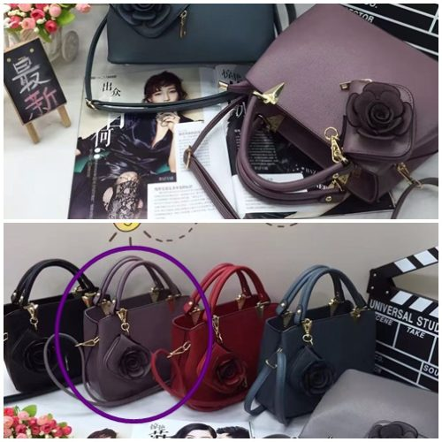 B0521 MATERIAL PU SIZE L27XH20XW13CM WEIGHT 900GR COLOR PURPLE