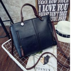 B0913 MATERIAL PU SIZE L33XH26XW15CM WEIGHT 800GR COLOR BLACK