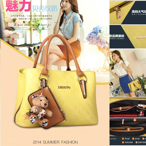 B1085 (2in1) - Harga sebelum Diskon IDR.195.000 MATERIAL PU SIZE L33XH22XW14CM WEIGHT 900GR COLOR YELLOW