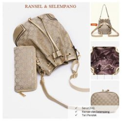B1207 MATERIAL PU SIZE L23XH27XW17CM WEIGHT 800GR COLOR SILVER
