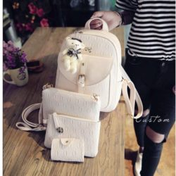 B1619 MATERIAL PU SIZE L24XH32XW10CM WEIGHT 850GR COLOR BEIGE