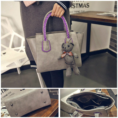 B2088 - Harga sebelum Diskon IDR.182.000 MATERIAL PU SIZE L25-33XH20XW14CM WEIGHT 750GR COLOR GRAY