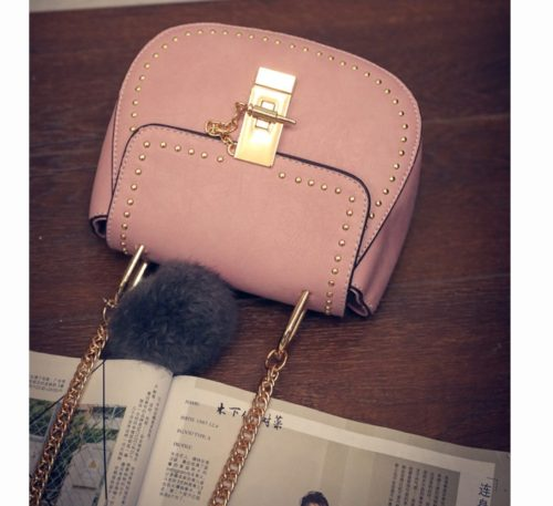 B2101 IDR.155.000 MATERIAL PU SIZE L17XH15XW7CM WEIGHT 550GR COLOR PINK