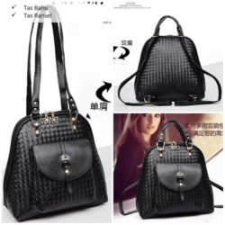 B2541 MATERIAL PU SIZE L27XH28XW12CM WEIGHT 750GR COLOR BLACK