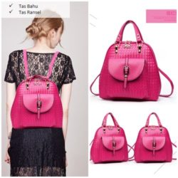 B2541 MATERIAL PU SIZE L27XH28XW12CM WEIGHT 750GR COLOR ROSE