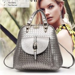 B2541 MATERIAL PU SIZE L27XH28XW12CM WEIGHT 750GR COLOR SILVER