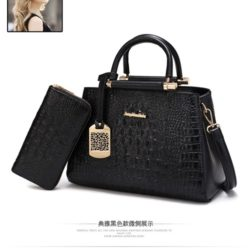 B2573 (2in1) MATERIAL PU SIZE L30XH20XW15CM WEIGHT 1100GR COLOR BLACK
