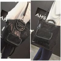 B2632 MATERIAL PU SIZE L26XH31X16CM WEIGHT 800GR COLOR BLACK