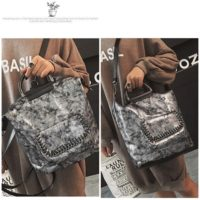 B2632 MATERIAL PU SIZE L26XH31X16CM WEIGHT 800GR COLOR SILVER
