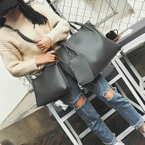 B2633 3in1 MATERIAL PU SIZE L49XH30XW10CM WEIGHT 1000GR COLOR BLACK