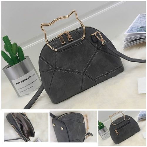 B2696 MATERIAL PU SIZE L23XH17XW10CM WEIGHT 600GR COLOR GRAY