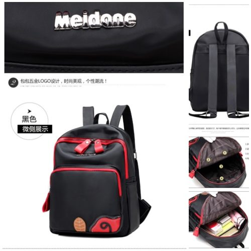 B2697 MATERIAL NYLON SIZE L24XH31XW11CM WEIGHT 650GR COLOR BLACK