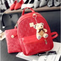 B27580 (2in1)  MATERIAL PU SIZE L24XH31XW12CM WEIGHT 800GR COLOR RED