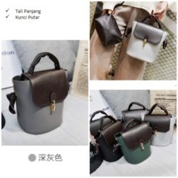 B2777 MATERIAL PU SIZE L22XG24XW14CM WEIGHT 600GR COLOR DRAKGRAY