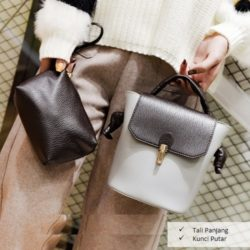 B2777 MATERIAL PU SIZE L22XG24XW14CM WEIGHT 600GR COLOR LIGHGRAY