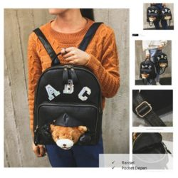 B2785 Big MATERIAL PU SIZE L25XH26XW9CM WEIGHT 650GR COLOR BLACK