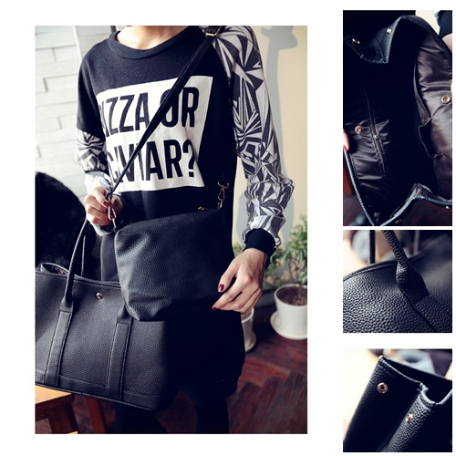 B27892 (2in1) IDR.172.000 MATERIAL PU SIZE L37 31XH25XW15CM WEIGHT 750GR COLOR BLACK