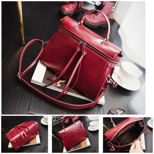 B2799 MATERIAL PU SIZE L26XH21XW9CM WEIGHT 600GR COLOR RED