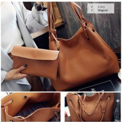 B2831 MATERIAL PU SIZE L35XH30XW19CM SMALL L26XH15CM WEIGHT 800GR COLOR BROWN