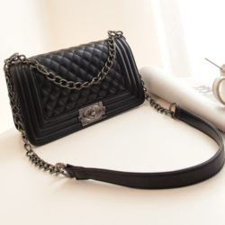 B2907-black Clutch Bag Elegan