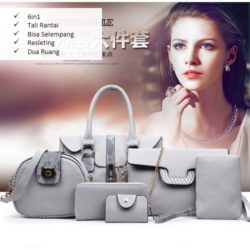 B2932-(6in1) IDR.242.000 MATERIAL PU SIZE L32XH20XW10CM WEIGHT 1800GR COLOR GRAY