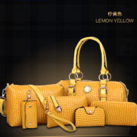 B3680 (6in1) IDR.240.000 TAS FASHION MATERIAL PU SIZE BIG L34XH20XW17CM WEIGHT 1400GR COLOR YELLOW