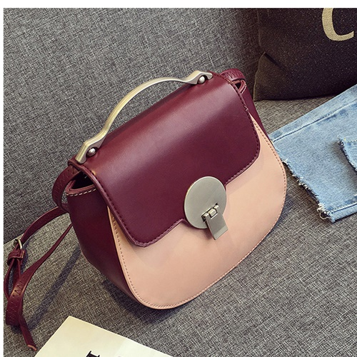 B568 MATERIAL PU SIZE L19XH16XW8CM WEIGHT 550GR COLOR WINE