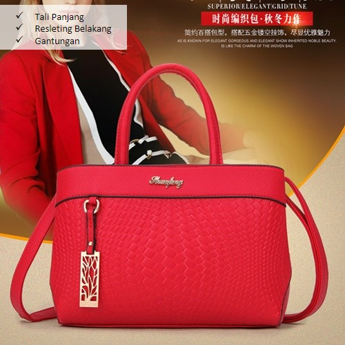 B6005 MATERIAL PU SIZE L27XH20XW14CM WEIGHT 800GR COLOR RED