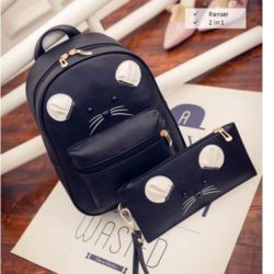 B7861-(2in1) IDR.158.000 MATERIAL PU SIZE L21XH31XW10CM WEIGHT 600GR COLOR BLACK
