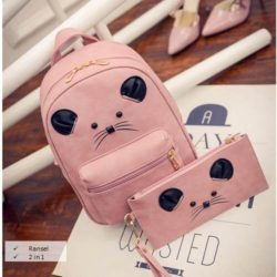 B7861-(2in1) IDR.158.000 MATERIAL PU SIZE L21XH31XW10CM WEIGHT 600GR COLOR PINK