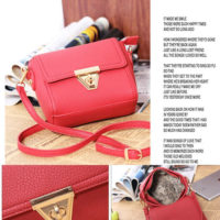 B8404 - Harga sebelum Diskon IDR.155.000 MATERIAL PU SIZE L18XH14XW6CM WEIGHT 450GR COLOR RED