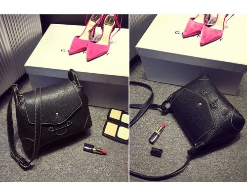 B8448 IDR.178.000 MATERIAL PU SIZE L29XH18XW11CM WEIGHT 450GR COLOR BLACK