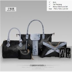 B857 MATERIAL PU SIZE BIG L33XH30XW13 MEDIUM L24H20XW13CM WEIGHT 1700GR COLOR BLACK