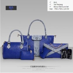 B857 MATERIAL PU SIZE BIG L33XH30XW13 MEDIUM L24H20XW13CM WEIGHT 1700GR COLOR BLUE