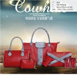 B857 MATERIAL PU SIZE BIG L33XH30XW13 MEDIUM L24H20XW13CM WEIGHT 1700GR COLOR RED