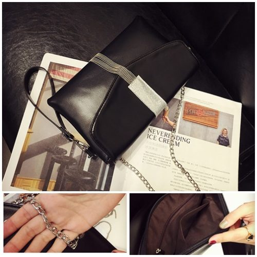 B872 MATERIAL PU SIZE L28XH17XW3CM WEIGHT 500GR COLOR BLACK