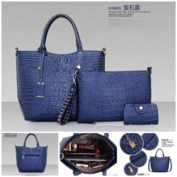 B879 (3in1) MATERIAL PU SIZE L26XH26XW12CM WEIGHT 1100GR COLOR BLUE