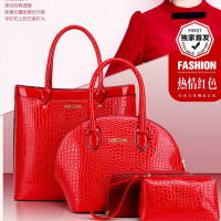 B9747#RED Tas Fashion 4in1 Murah
