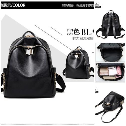 Jual B996 Black Tas Ransel Import Modis