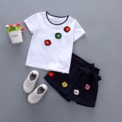 C2052-white Baju dan Rok Anak Cewek Cantik Import a6b7cff319