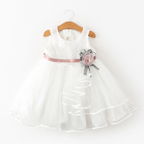 Jual C88431 White Gaun Pesta Anak Cewek Cantik Elegan Grosirimpor Com