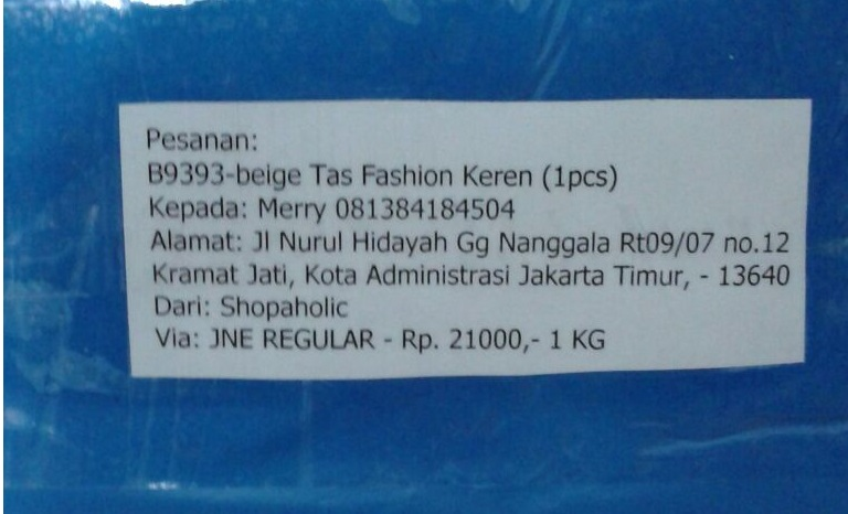 Contoh Paket