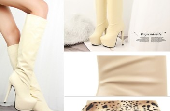 SH1177 IDR.269.OOO MATERIAL PU HEEL 5CM,15CM LENGTH 39CM COLOR BROWN,BEIGE SIZE 36,37,38, COLOR BLACK SIZE 35,36,37,38 (2)