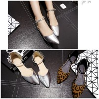 SH1231 IDR.195.000 MATERIAL PU HEEL 1.5CM COLOR SILVER SIZE 35