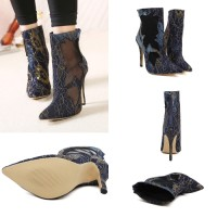 SH1912 IDR.248.OOO MATERIAL LACE HEEL 11CM COLOR BLUE SIZE 36,37,38