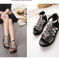SH2691 IDR.254.000 MATERIAL PU-HEEL-5CM COLOR SILVER SIZE 36