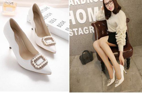 SH3381 IDR.210.000 MATERIAL PU-HEEL-12.5CM COLOR WHITE SIZE 35
