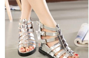SH36810 IDR.215.000 MATERIAL PU-HEEL-5CM COLOR SILVER SIZE 36,37,38,39
