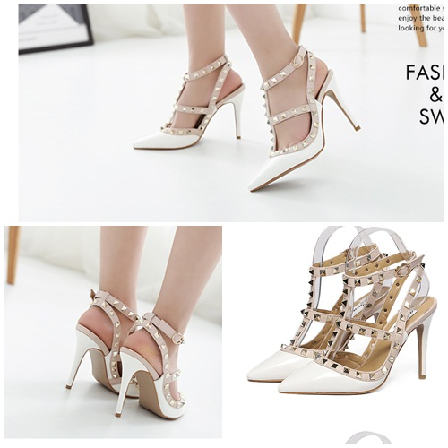 SH37011 IDR.255.000 MATERIAL PU-HEEL-10CM COLOR WHITE SIZE 35